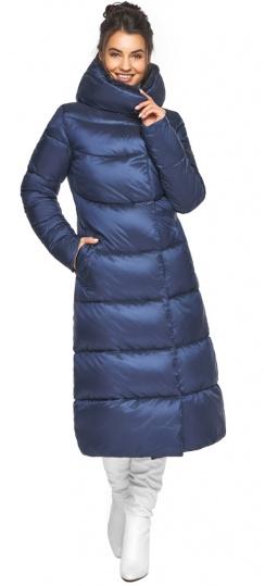 """Женская куртка зимняя с манжетами цвет синий бархат модель 45085 Braggart """"Angel's Fluff"""" фото 1"""