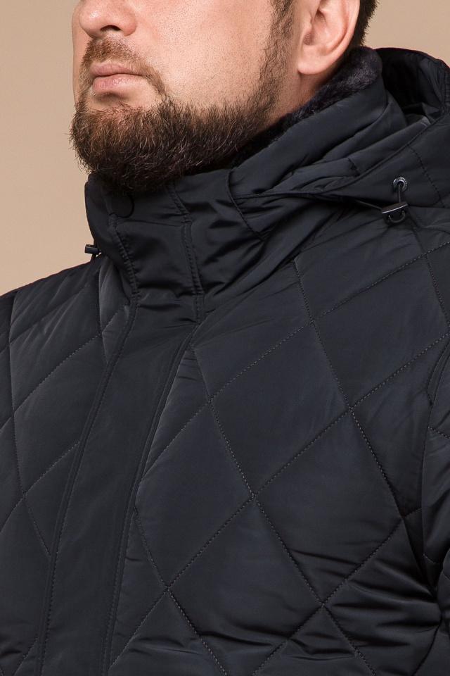 """Графитовая мужская куртка фирменная на зиму модель 19121 Braggart """"Dress Code"""" фото 6"""