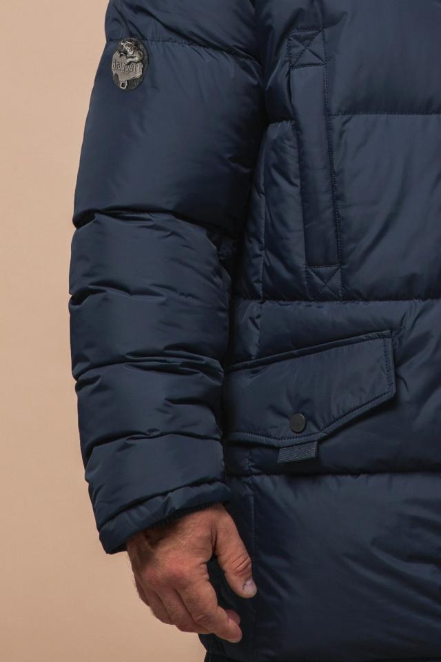 "Комфортная куртка зимняя мужская тёмно-синяя модель 27055 Braggart ""Dress Code"" фото 6"