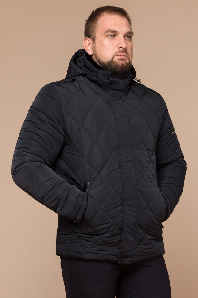 """Графитовая мужская куртка фирменная на зиму модель 19121 Braggart """"Dress Code"""" фото 4"""