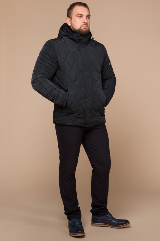"""Графитовая мужская куртка фирменная на зиму модель 19121 Braggart """"Dress Code"""" фото 2"""
