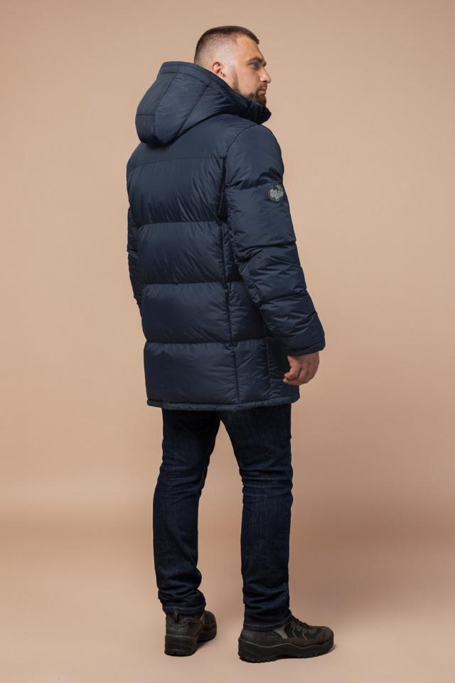 "Комфортная куртка зимняя мужская тёмно-синяя модель 27055 Braggart ""Dress Code"" фото 4"
