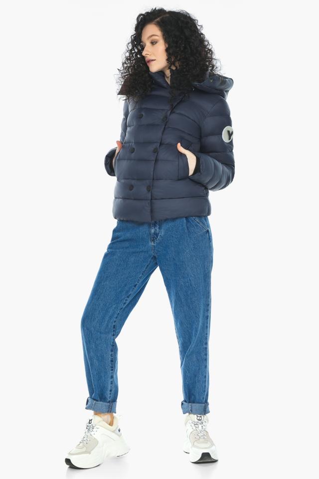 Практичная куртка на девочку осенняя темно-синяя модель 22150 Youth фото 5