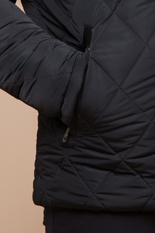 """Графитовая мужская куртка фирменная на зиму модель 19121 Braggart """"Dress Code"""" фото 7"""