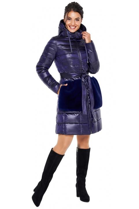 """Куртка стильная фиолетовая осенне-весенняя женская модель 31845 Braggart """"Angel's Fluff"""" фото 1"""