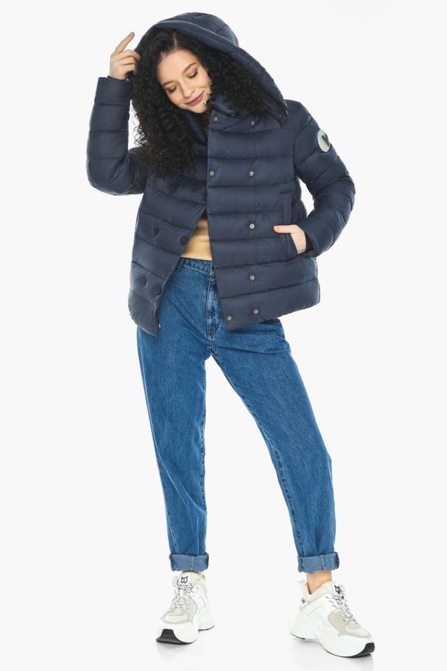Практичная куртка на девочку осенняя темно-синяя модель 22150 Youth фото 3