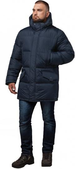 "Комфортная куртка зимняя мужская тёмно-синяя модель 27055 Braggart ""Dress Code"" фото 1"