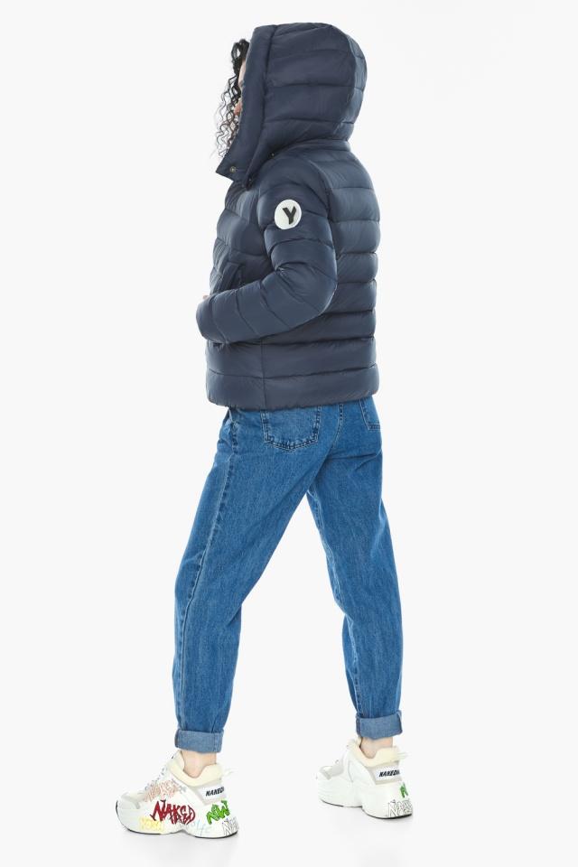 Практичная куртка на девочку осенняя темно-синяя модель 22150 Youth фото 7