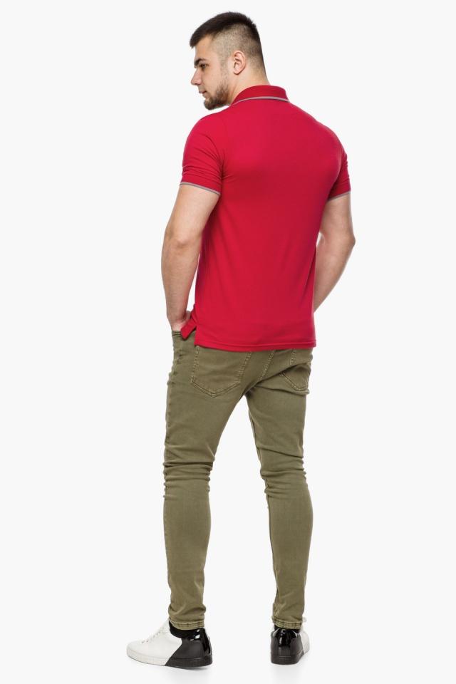 Красная практичная футболка поло мужская модель 6093 Braggart фото 5