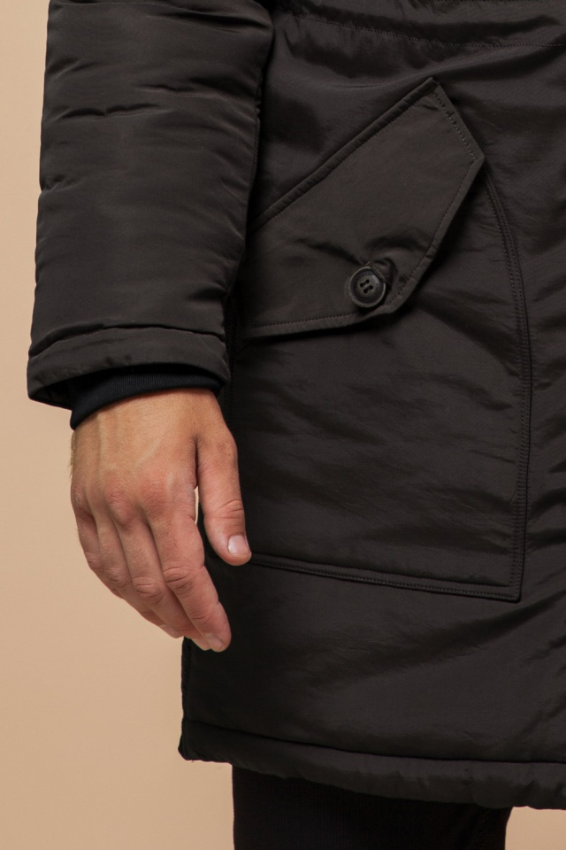 """Парка коричневая мужская удлиненная зимняя модель 90520 Braggart """"Arctic"""" фото 8"""