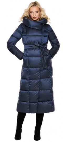 """Трендовая куртка женская цвет синий бархат модель 31056 Braggart """"Angel's Fluff"""" фото 1"""