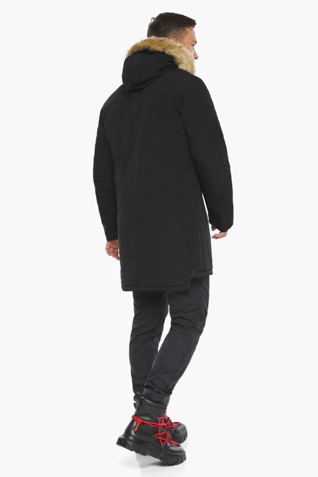 """Куртка – воздуховик мужской комфортный чёрный зимний модель 45062 Braggart """"Angel's Fluff Man"""" фото 8"""