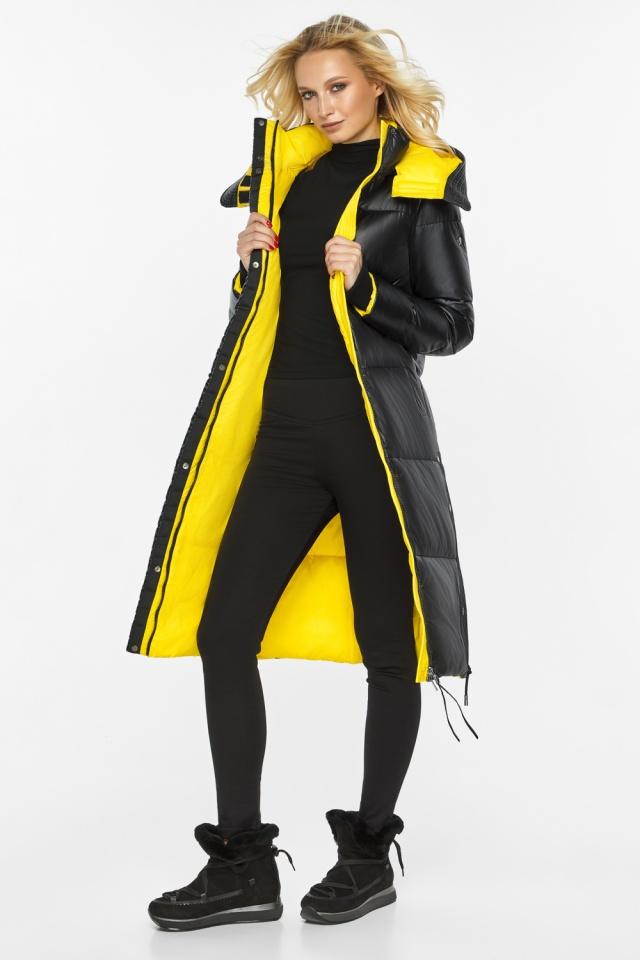 """Куртка прямого фасона черная женская теплая модель 42650 Braggart """"Angel's Fluff"""" фото 2"""