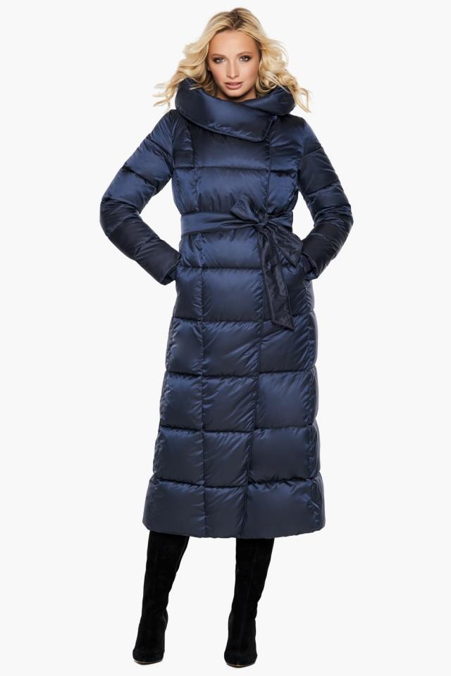 """Трендовая куртка женская цвет синий бархат модель 31056 Braggart """"Angel's Fluff"""" фото 2"""
