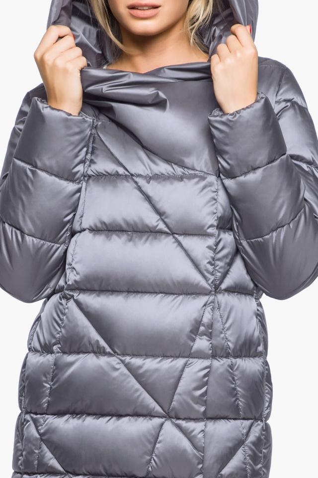 """Жемчужно-серая куртка женская комфортная модель 31058 Braggart """"Angel's Fluff"""" фото 8"""