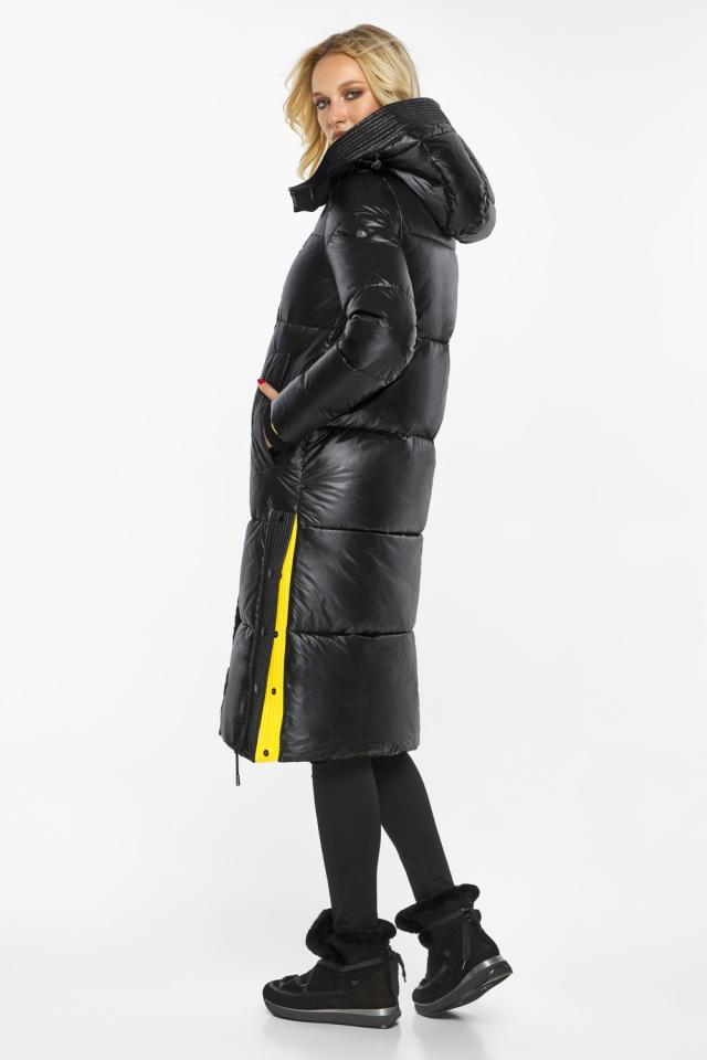"""Куртка прямого фасона черная женская теплая модель 42650 Braggart """"Angel's Fluff"""" фото 7"""