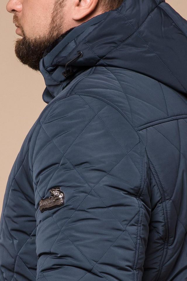 """Светло-синяя зимняя куртка модного дизайна мужская модель 19121 Braggart """"Dress Code"""" фото 8"""