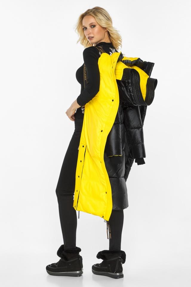 """Куртка прямого фасона черная женская теплая модель 42650 Braggart """"Angel's Fluff"""" фото 4"""