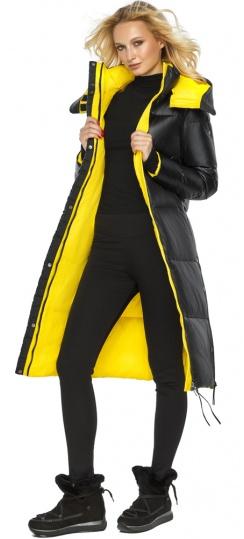 """Куртка прямого фасона черная женская теплая модель 42650 Braggart """"Angel's Fluff"""" фото 1"""