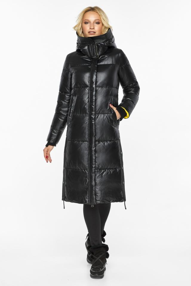 """Куртка прямого фасона черная женская теплая модель 42650 Braggart """"Angel's Fluff"""" фото 5"""