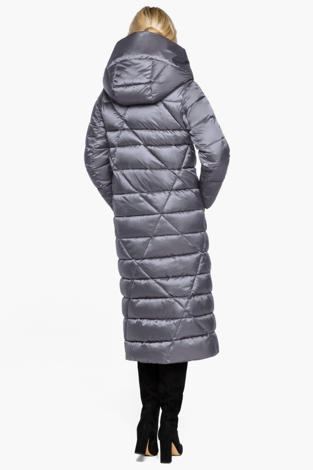 """Жемчужно-серая куртка женская комфортная модель 31058 Braggart """"Angel's Fluff"""" фото 7"""