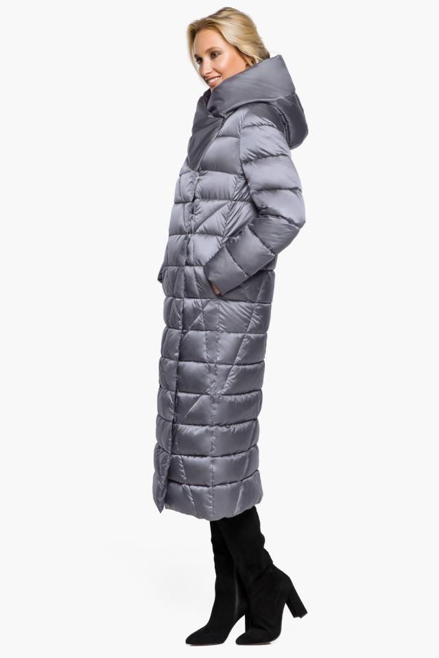"""Жемчужно-серая куртка женская комфортная модель 31058 Braggart """"Angel's Fluff"""" фото 5"""