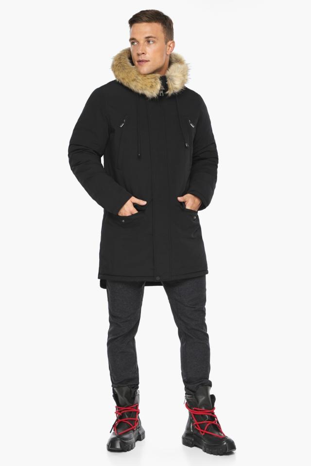 """Куртка – воздуховик мужской комфортный чёрный зимний модель 45062 Braggart """"Angel's Fluff Man"""" фото 6"""