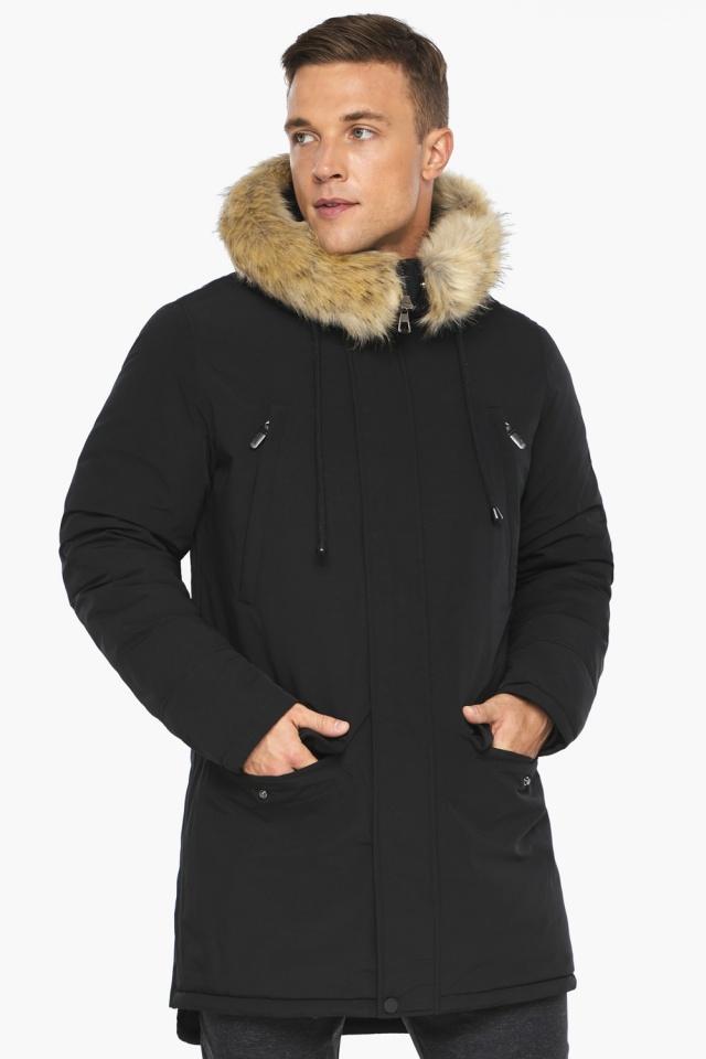 """Куртка – воздуховик мужской комфортный чёрный зимний модель 45062 Braggart """"Angel's Fluff Man"""" фото 4"""