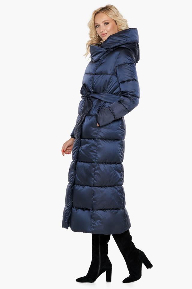"""Трендовая куртка женская цвет синий бархат модель 31056 Braggart """"Angel's Fluff"""" фото 6"""