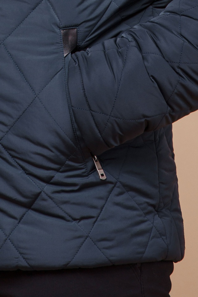 """Светло-синяя зимняя куртка модного дизайна мужская модель 19121 Braggart """"Dress Code"""" фото 7"""