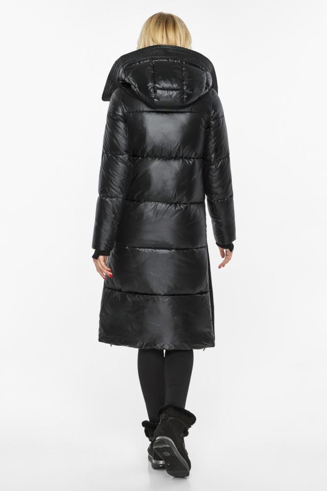 """Куртка прямого фасона черная женская теплая модель 42650 Braggart """"Angel's Fluff"""" фото 8"""