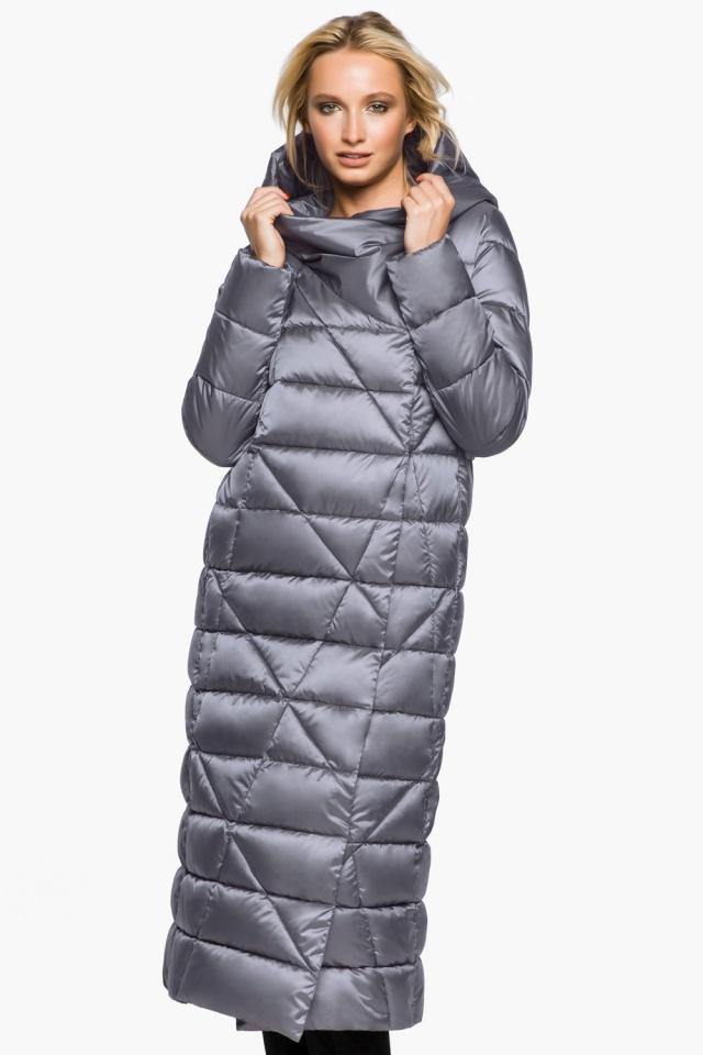 """Жемчужно-серая куртка женская комфортная модель 31058 Braggart """"Angel's Fluff"""" фото 3"""