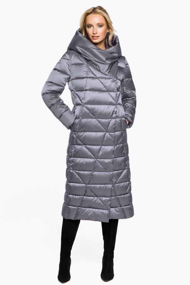"""Жемчужно-серая куртка женская комфортная модель 31058 Braggart """"Angel's Fluff"""" фото 4"""
