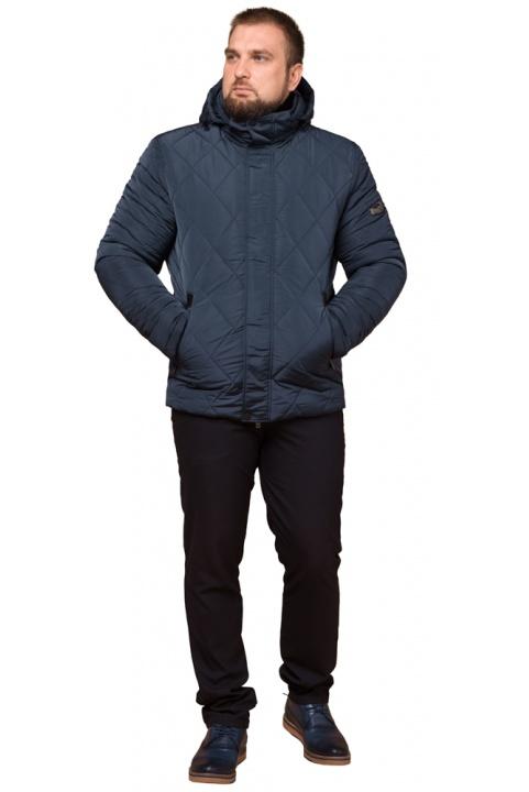 """Світло-синя зимова куртка модного дизайну чоловіча модель 19121 Braggart """"Dress Code"""" фото 1"""