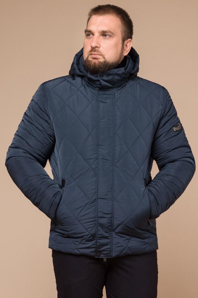 """Светло-синяя зимняя куртка модного дизайна мужская модель 19121 Braggart """"Dress Code"""" фото 4"""