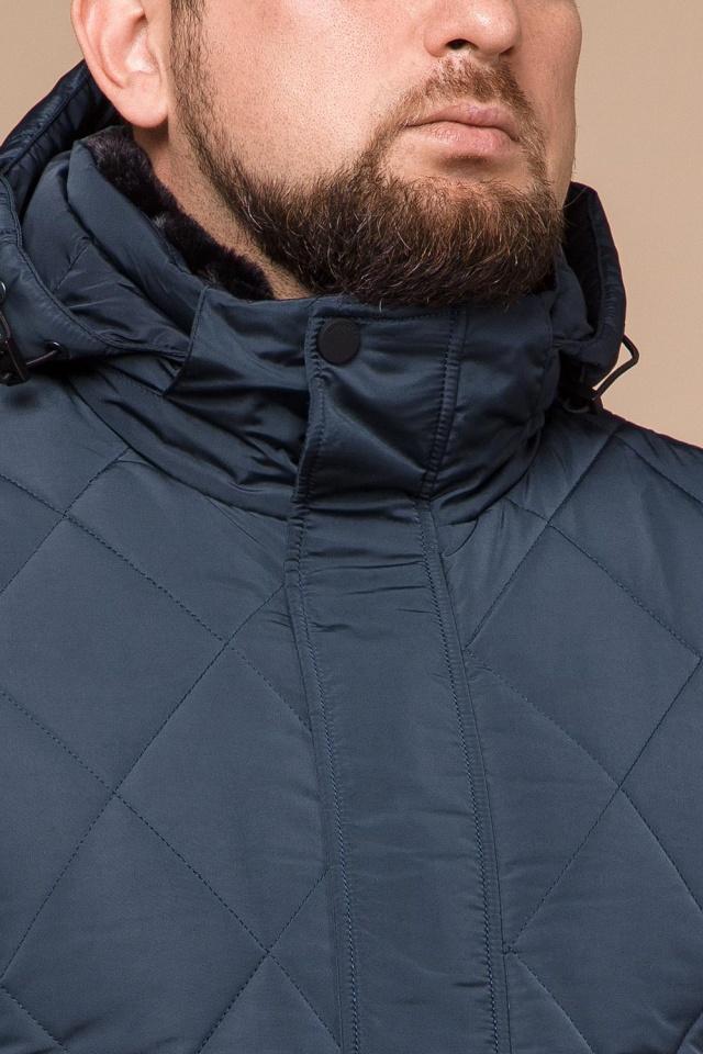 """Светло-синяя зимняя куртка модного дизайна мужская модель 19121 Braggart """"Dress Code"""" фото 6"""