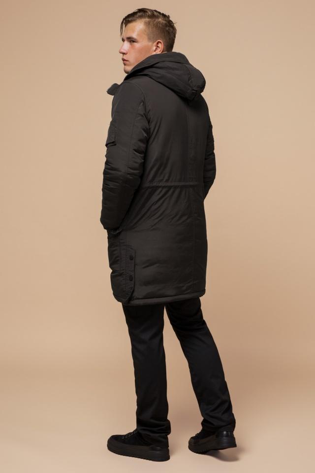 """Парка коричневая мужская удлиненная зимняя модель 90520 Braggart """"Arctic"""" фото 5"""