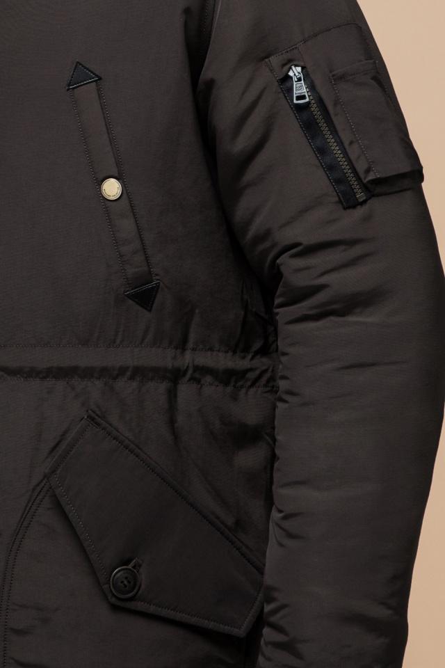 """Парка коричневая мужская удлиненная зимняя модель 90520 Braggart """"Arctic"""" фото 7"""