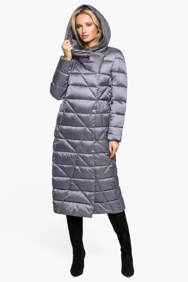 """Жемчужно-серая куртка женская комфортная модель 31058 Braggart """"Angel's Fluff"""" фото 2"""
