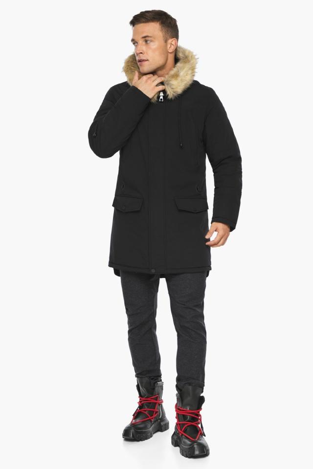 """Куртка – воздуховик мужской комфортный чёрный зимний модель 45062 Braggart """"Angel's Fluff Man"""" фото 2"""