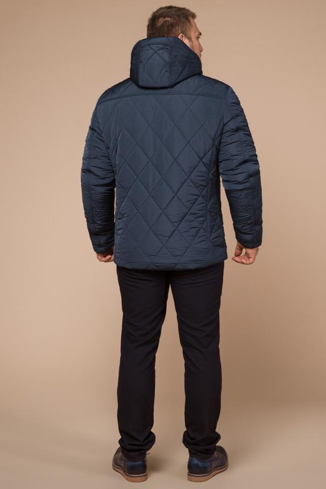 """Светло-синяя зимняя куртка модного дизайна мужская модель 19121 Braggart """"Dress Code"""" фото 5"""