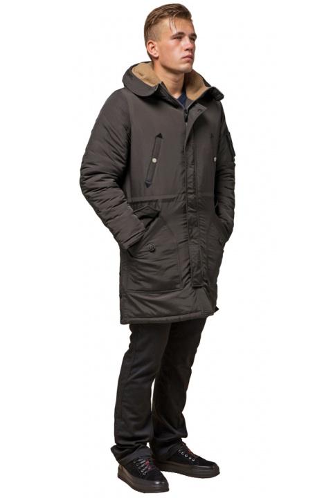 """Парка коричнева чоловіча подовжена зимова модель 90520 Braggart """"Arctic"""" фото 1"""