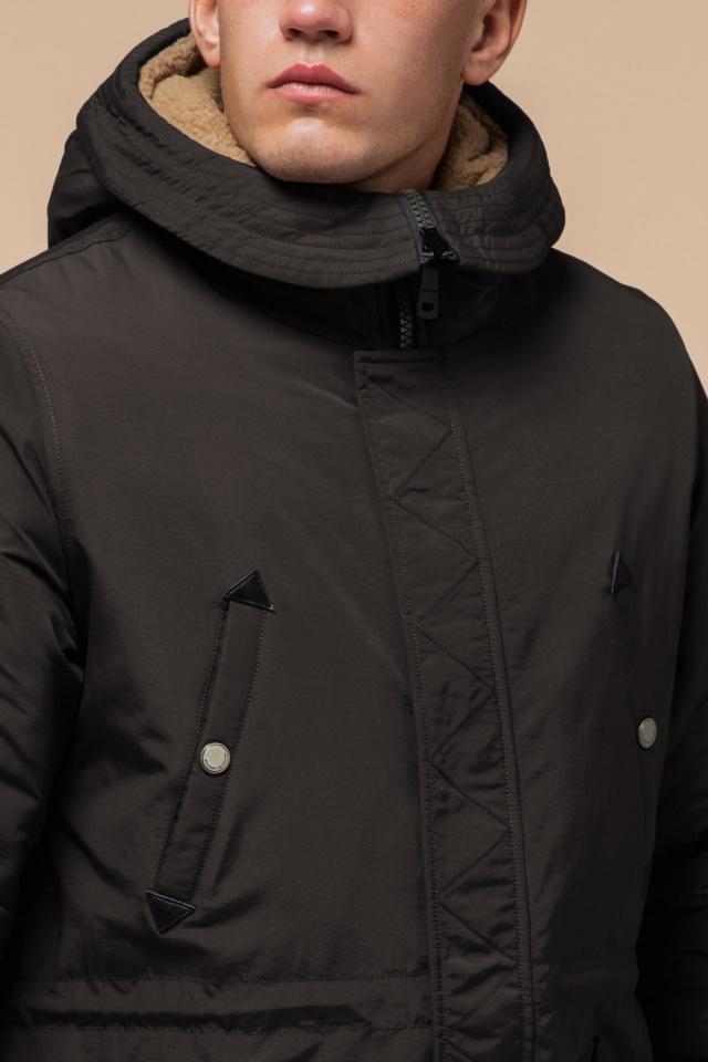 """Парка коричневая мужская удлиненная зимняя модель 90520 Braggart """"Arctic"""" фото 6"""
