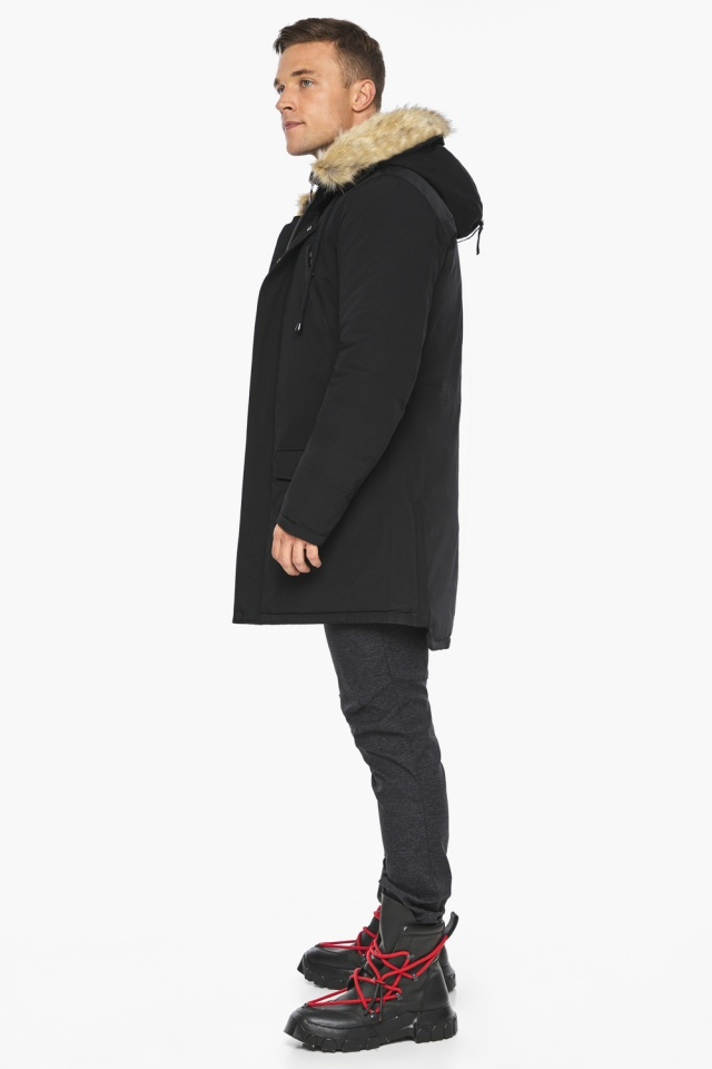 """Куртка – воздуховик мужской комфортный чёрный зимний модель 45062 Braggart """"Angel's Fluff Man"""" фото 7"""
