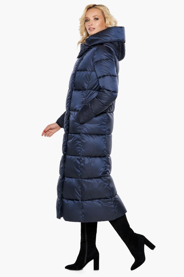 """Трендовая куртка женская цвет синий бархат модель 31056 Braggart """"Angel's Fluff"""" фото 4"""