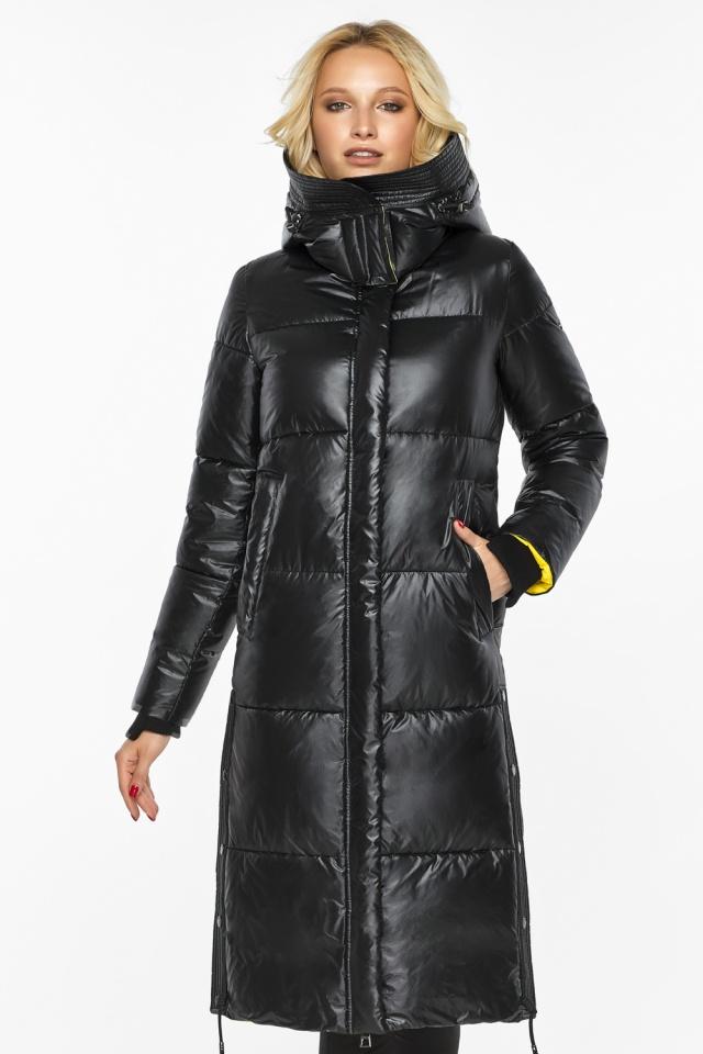 """Куртка прямого фасона черная женская теплая модель 42650 Braggart """"Angel's Fluff"""" фото 3"""