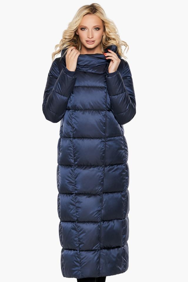 """Трендовая куртка женская цвет синий бархат модель 31056 Braggart """"Angel's Fluff"""" фото 3"""