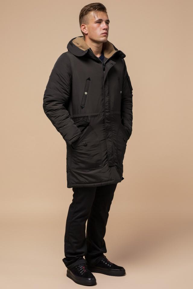 """Парка коричневая мужская удлиненная зимняя модель 90520 Braggart """"Arctic"""" фото 2"""