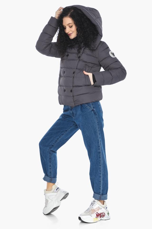 Классическая осенняя куртка в молодежном стиле графитовая модель 22150 Youth фото 2