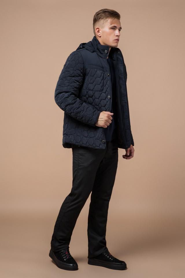 """Куртка брендовая для мальчика цвет тёмно-синий-чёрный модель 3570 Braggart """"Dress Code"""" фото 3"""
